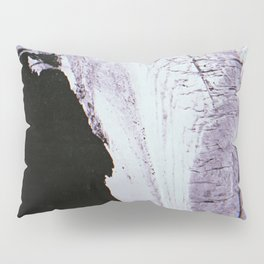 Slipping Away: an abstract mixed-media piece in black and white by Alyssa Hamilton Art Pillow Sham