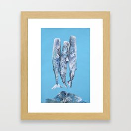 Sleeping Whales Framed Art Print