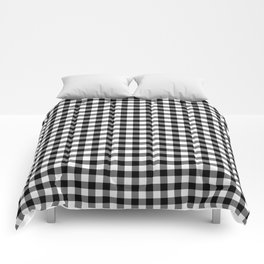 Gingham Black and White Pattern Comforters