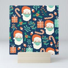 Santa Claus Wearing A Face Mask Mini Art Print