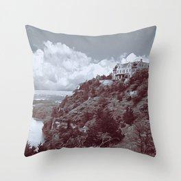 Ha Ha Tonka in Selenium and Gray Throw Pillow