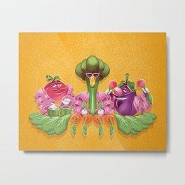 Kitchen Kabaret - Veggie, Veggie, Fruit, Fruit Metal Print
