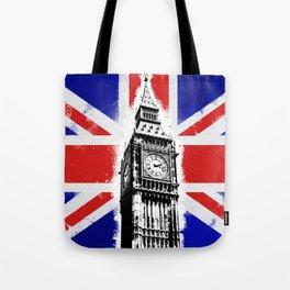 Union Jack Big Ben Tote Bag