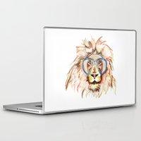 scuba Laptop & iPad Skins featuring Scuba Lion by Kristen Williams