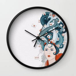 Rococo: Queen of Hearts Wall Clock