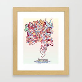 Thick Lucidity Framed Art Print