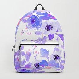 Lilac lavender violet pink watercolor elegant floral Backpack