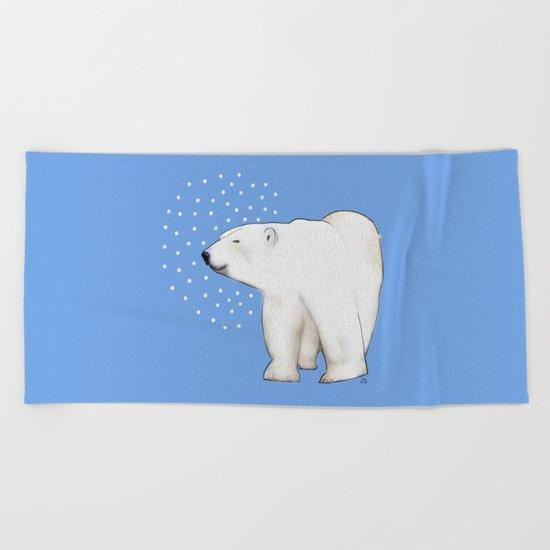 Polar Bear #8 Beach Towel