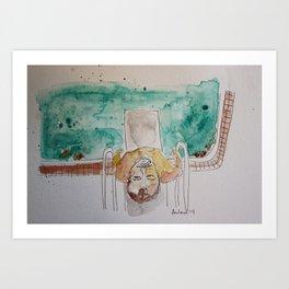 Bill Murray in Rushmore Art Print