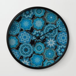 blue gems Wall Clock