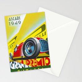 1949 Italian Grand Prix Ascari Motor Racing Vintage Poster Stationery Cards
