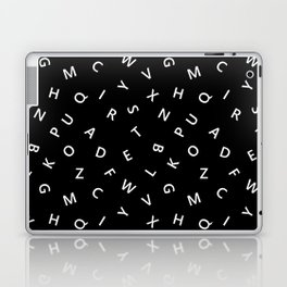 The Missing Letter Alphabet B&W Laptop & iPad Skin