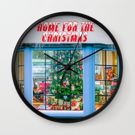 Home for the Christmas Wall Clock