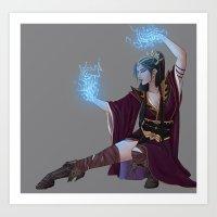 wizard Art Prints featuring Wizard by Jinxii