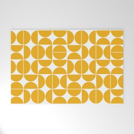 Mid Century Modern Geometric 04 Yellow Welcome Mat