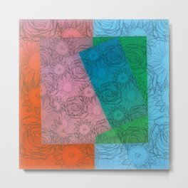 Floral Puzzle Metal Print