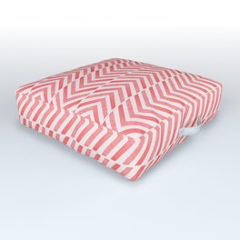 Red Geometric Watercolor Pattern Outdoor Floor Cushion