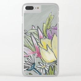 Protea bouquet Clear iPhone Case