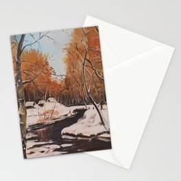 Winter Looms Stationery Cards