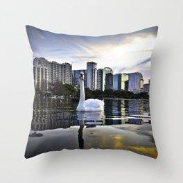 Lake Eola - Orlando, FL Throw Pillow