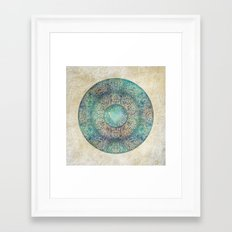 Moon Mandala Framed Art Print