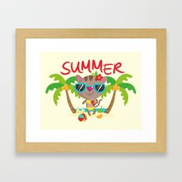 Hello, summer Framed Art Print