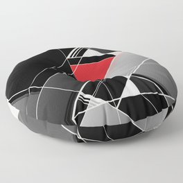 Black & Red Floor Pillow