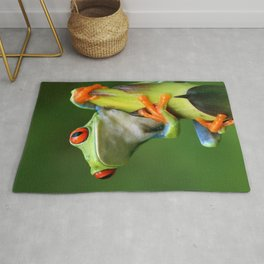 Curious Red-Eyed Tree Frog Rug