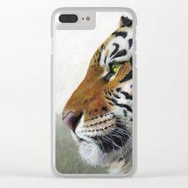Tiger profile AQ1 Clear iPhone Case