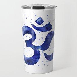 Ohm Symbol Blue Travel Mug