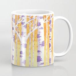 Golden Birch Trees Coffee Mug