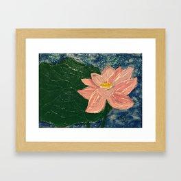 Lotus Pond Framed Art Print