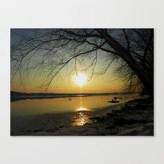 The Sun Goes Down Canvas Print