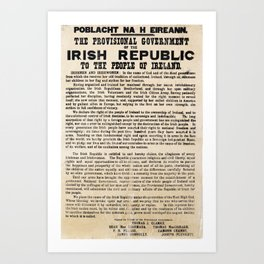 Irish Proclamation of Independence Art Print