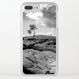 Loner. Clear iPhone Case