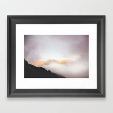 Pastel Mountains #photography Framed Art Print