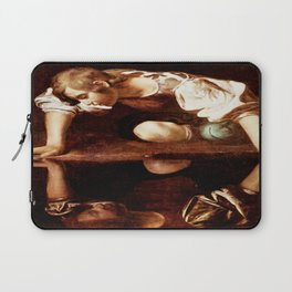 Michelangelo Merisi da Caravaggio, Narcissus at the Source, oil on canvas, 1597-99 Laptop Sleeve