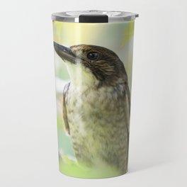 Australian Butcher Bird Travel Mug