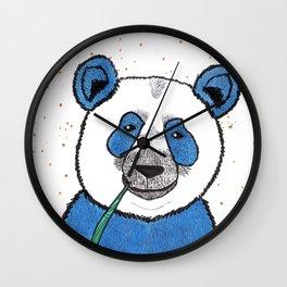 Blue (not sad) Panda Wall Clock