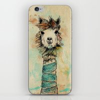 lama iPhone & iPod Skins featuring Lama by Anastasia Tayurskaya