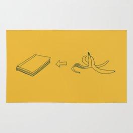 Slipping a Banana Peel into a Book Rug