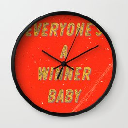 Everyone's a Winner, Baby – A Hell Songbook Edition Wall Clock