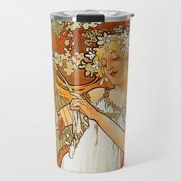 Alphonse Mucha Spring 1896 Travel Mug