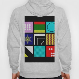 Eclectic 1 - Random collage of 9 bold colourful patterns in an abstract style Hoody
