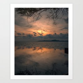 Sunset on the Gulf of Thailand Art Print