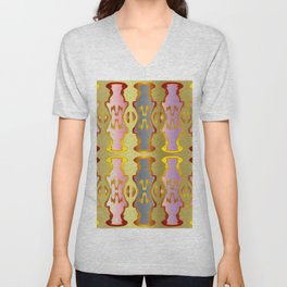 Pattern by different pairs Unisex V-Neck