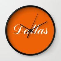 dallas Wall Clocks featuring Dallas by AE Interiors