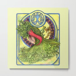 Art nouveau. Spices and vegetables Metal Print