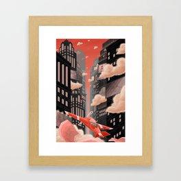 Red Night Flight Framed Art Print