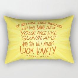 Roald Dahl on Positive Thinking Rectangular Pillow